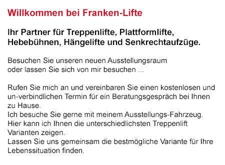 Kosten Treppenlift für 91301 Forchheim, Hausen (Forchheim), Pinzberg, Heroldsbach, Eggolsheim, Wiesenthau, Poxdorf und Weilersbach, Kirchehrenbach, Hallerndorf