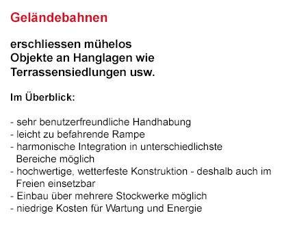 Sitzlifte für  Forchheim - Kersbach, Reuth, Buckenhofen, Burk und Serlbach, Sigritzau